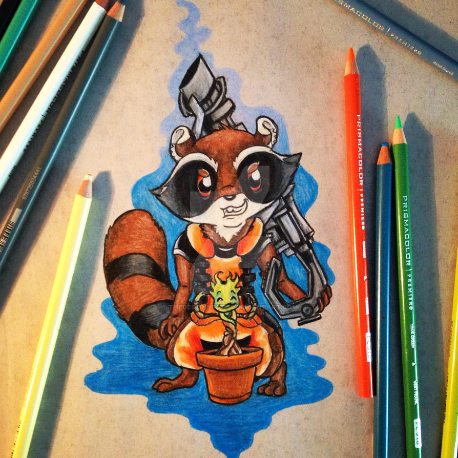 Star Lord And Rocket Raccoon By Timothygreenii On Deviantart: Rocket Raccoon And Baby Groot By TheDestinyForge On DeviantArt