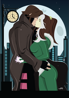Rogue and Gambit - Commission by FeydRautha81