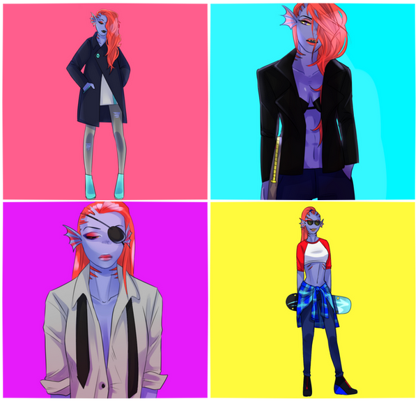 Undyne Look Book by HNLee