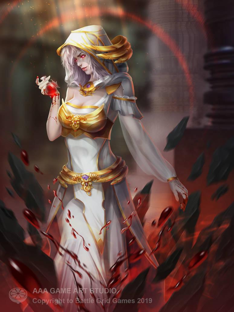 Woman priest by AAAGameArtStudio