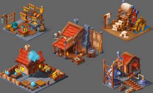 Isometric factory