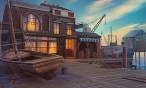 Dry Dock - 2Dart game scene for June's Journey gam