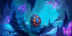 Mini game 2D scene, Dragon egg