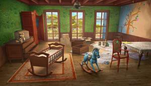 Nursery, hidden object game scene