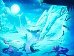 High frozen mountains