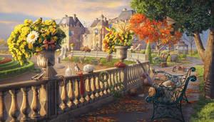 Luxembourg Gardens, hidden object game scene