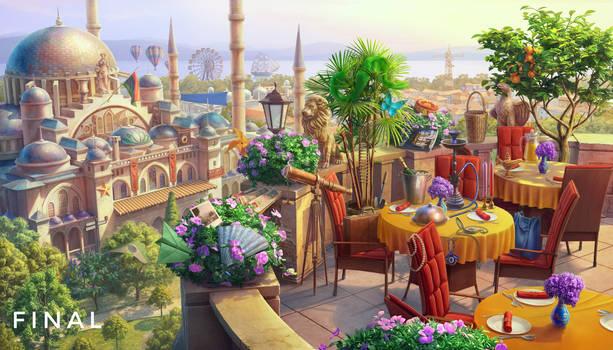 Istanbul, 2D art, 3d art, background, landscape