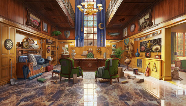 Cabinet, hidden object game scene