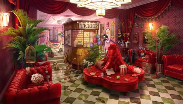 Cinema Foyer, 2D hidden game scene