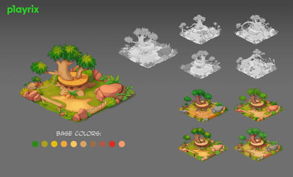 Lemur Paddock, made for Wildscapes by Playrix