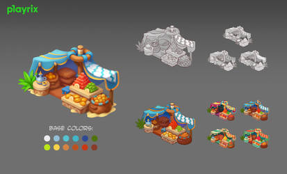 Sweets stand for Playrix