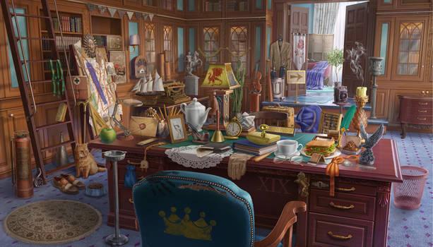 Briefing Room - hidden object game scene