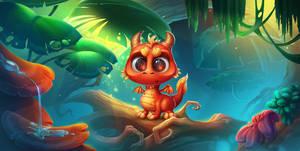 Baby dragon emotion, for Playtika