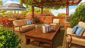 Terrace, hidden object scene for Junes Journey