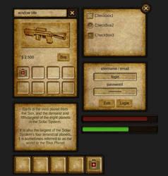 Dark RPG Theme NGUI Skin v1.0