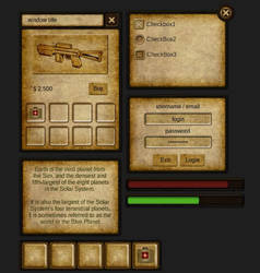 Dark RPG Theme NGUI Skin v1.0 by cruizRF