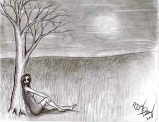 Creepy Poe-esque Illustration by pyro-pyscho