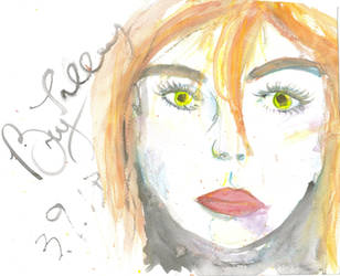 Watercolor Face by pyro-pyscho