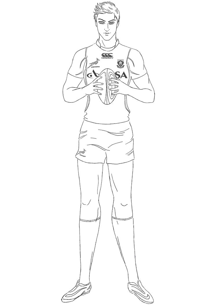 Rugby Player Commission by NightSMars
