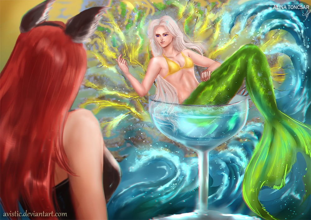 A glass of mermaid by Avistic