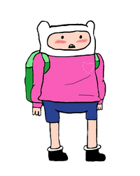 Finn Wearing His Like Sweater by statewee