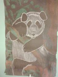 panda chalk art by Bearofthenorthstar