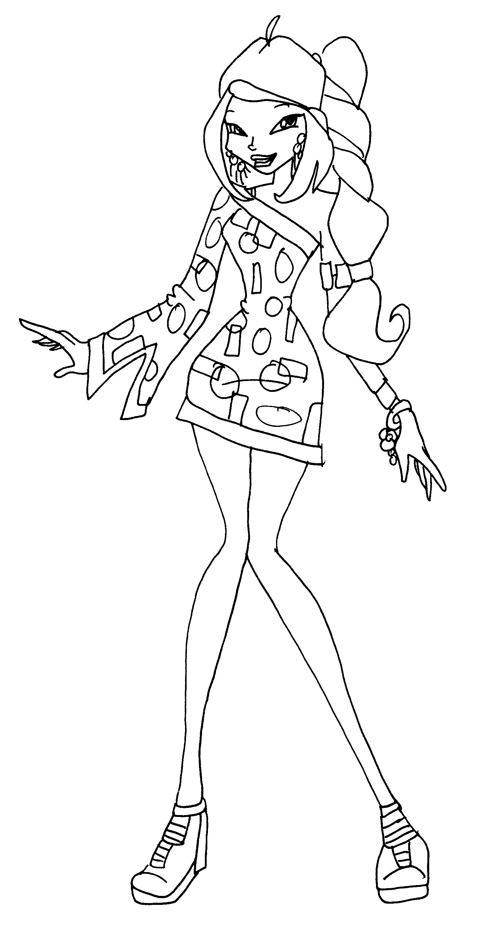 Winx flora disco by catasqueen on deviantart for Winx club coloring pages flora