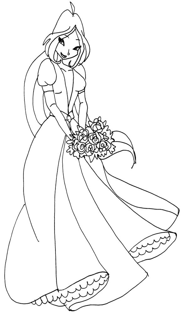 Winx flora dress by catasqueen on deviantart for Winx club coloring pages flora