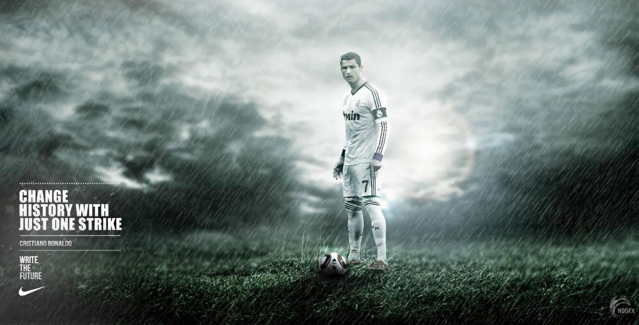Cristiano Ronaldo Nike Wallpaper By Nirmalyabasu5 On Deviantart