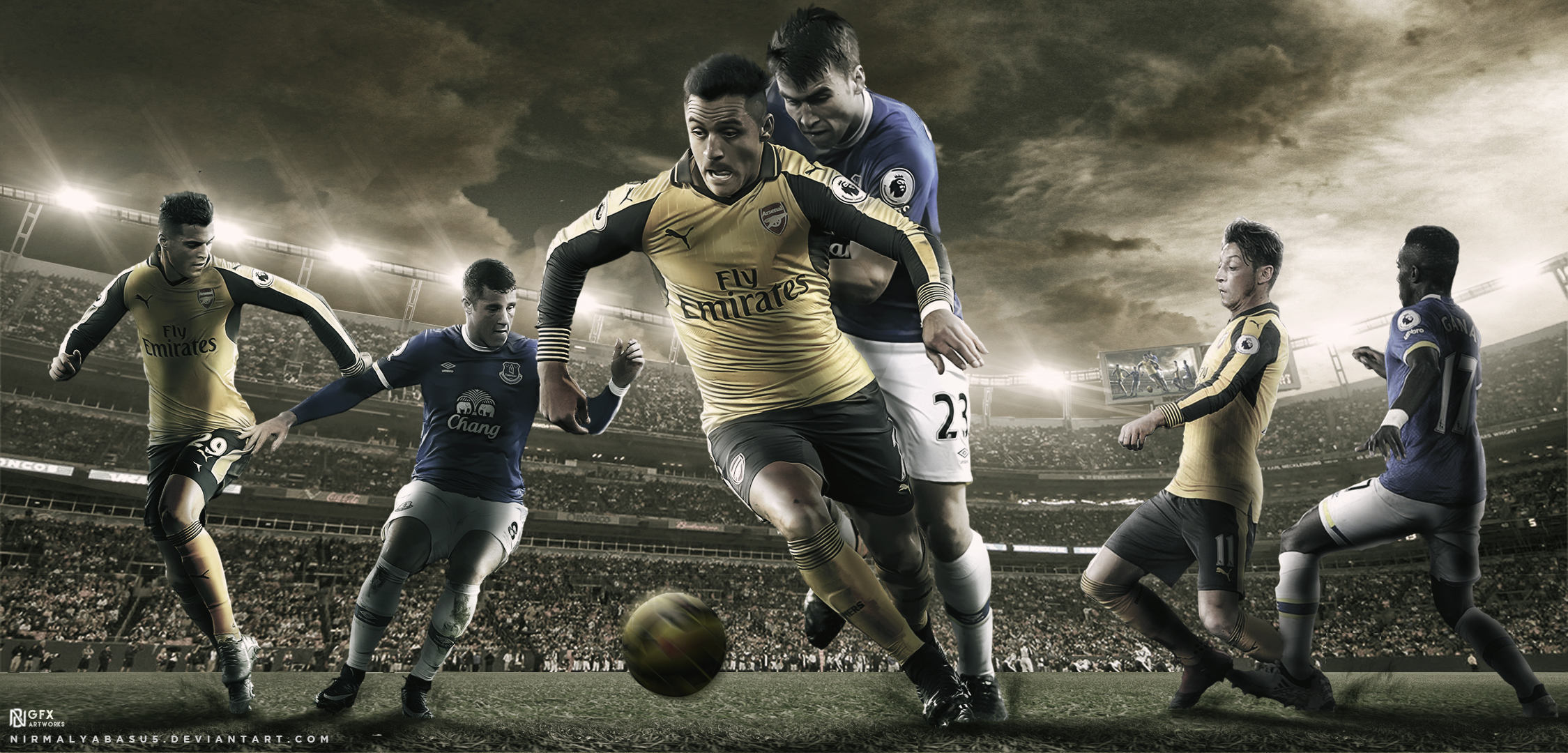 Arsenal FC vs Everton FC Wallpaper by nirmalyabasu5 on ...