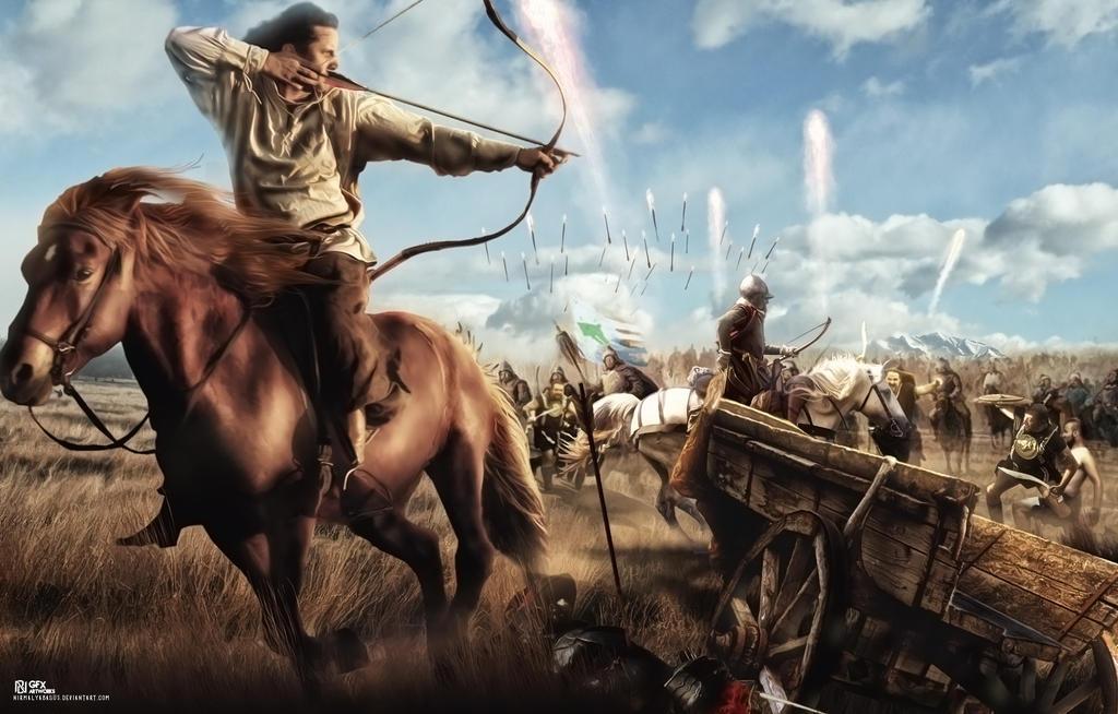 A medieval battle