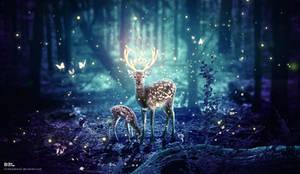 A deer mother