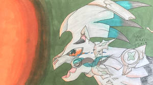 Silver the Silvally and the fire by Zorana-The-Dragon
