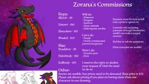 Commision Sheet {0/5 slots} by Zorana-The-Dragon