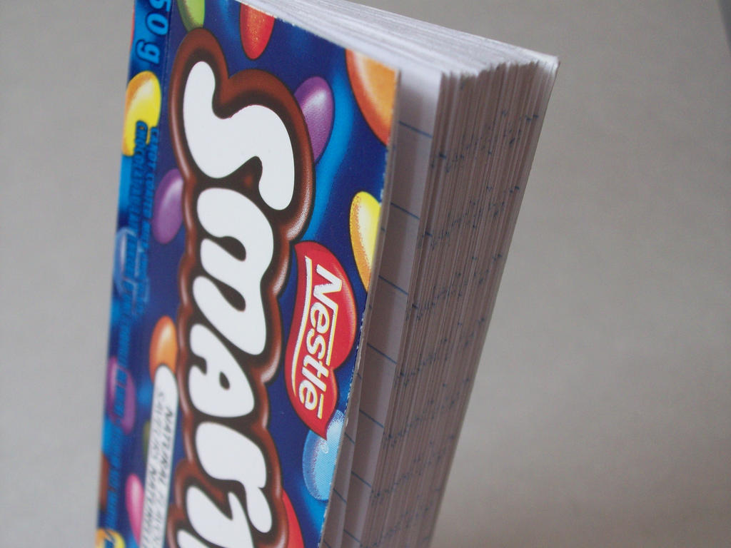 Smarties Box Notebook By Angelscarring