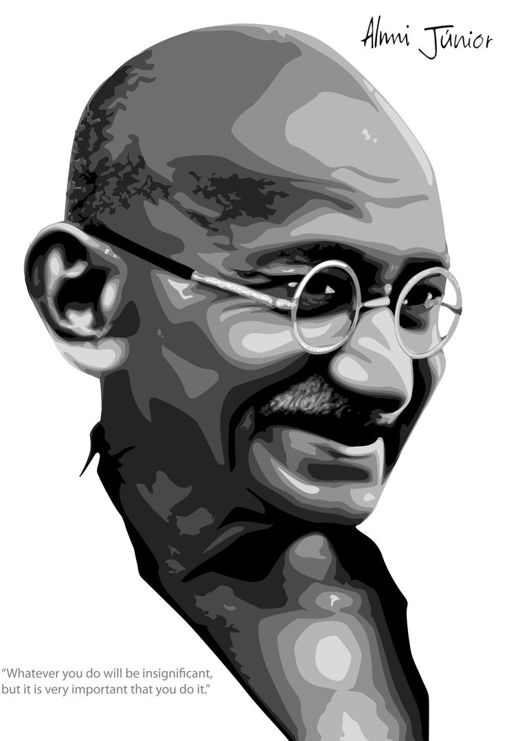 Gandhi by AlmiJunior
