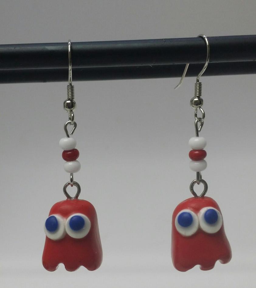 Pacmen Ghost Earrings by MadHouseTrinkets