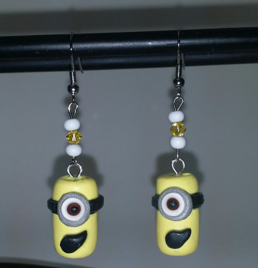Minion Earrings by MadHouseTrinkets