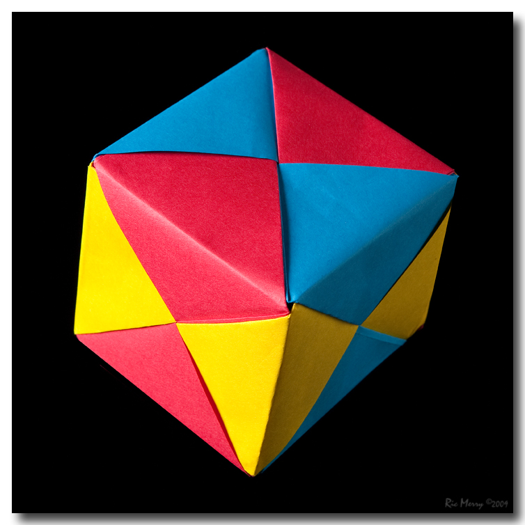 Modular Origami Cube by ricmerry on DeviantArt - photo#1
