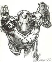 Iron Man Sketch by DaggerY