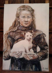 Inga with her dog by bci-gothe