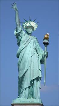 Lady Gaga as Lady Liberty