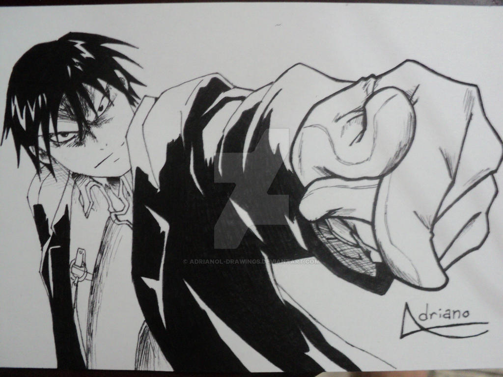 Angry Roy Mustang By Adrianol Drawings On Deviantart Logo