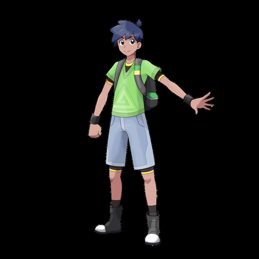 Pokmon Trainer Boy - Miguel by AdrianoL-Drawings