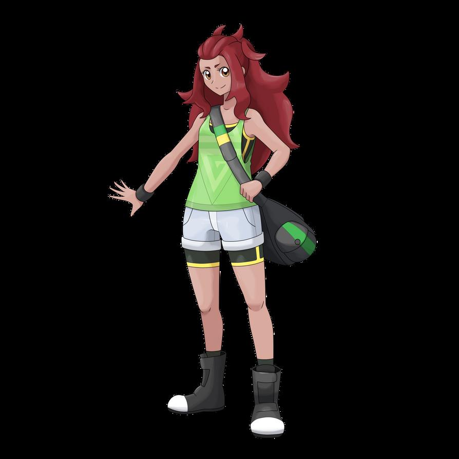 Pokemon Trainer Girl - Bruna by AdrianoL-Drawings