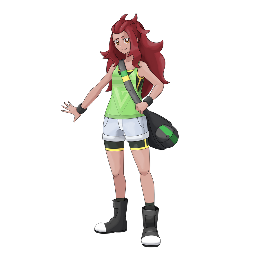 Pokemon Trainer Girl - Bruna by AdrianoL-Drawings