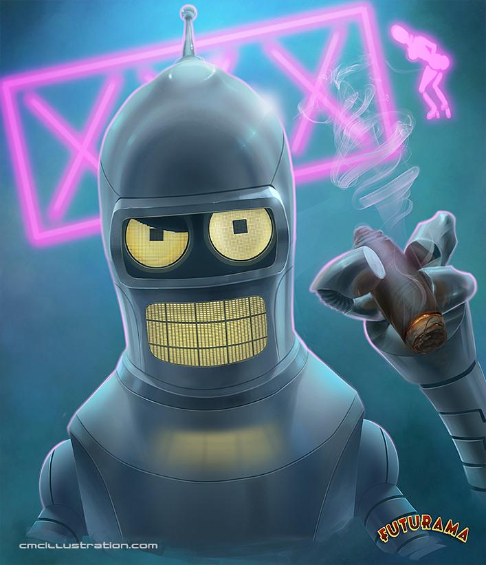 Futurama - Bender B. Rodriguez by Aioras