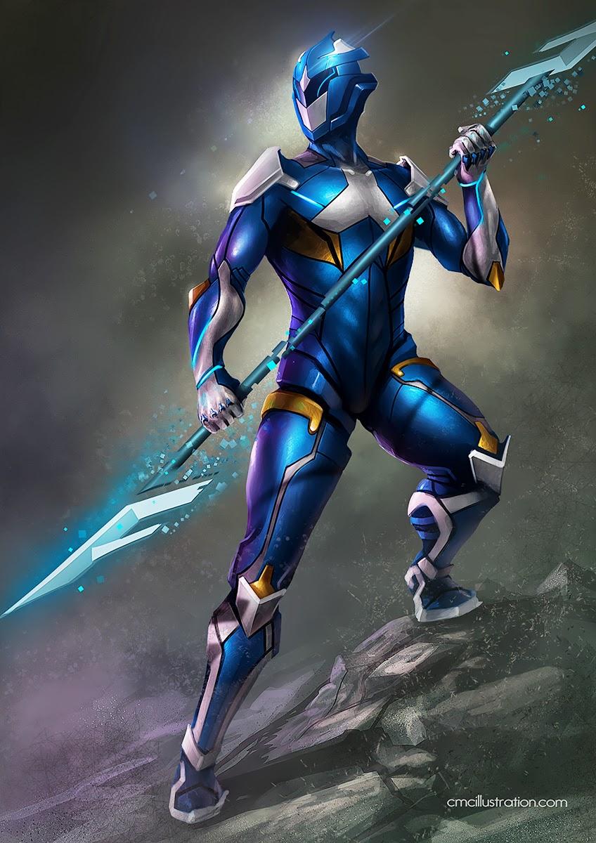 Blue Power Ranger Cake Topper