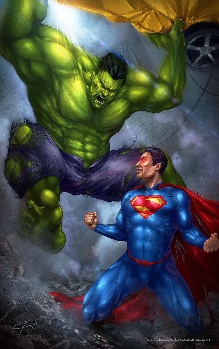 superman vs hulk by aioras on deviantart