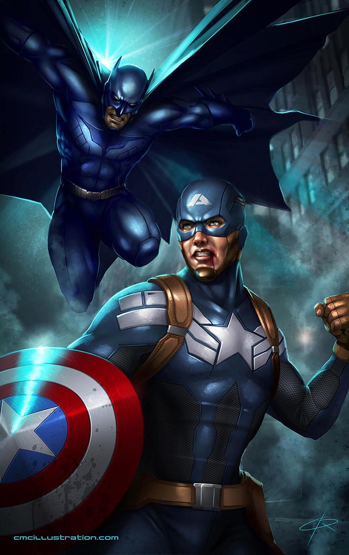 captain america vs batman by aioras on deviantart